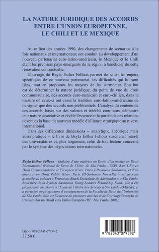 4eme La nature juridique des accords entre l'Union Européenne, le Chili et le Mexique