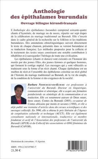 4eme Anthologie des épithalames burundais