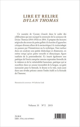 4eme Lire et relire Dylan Thomas