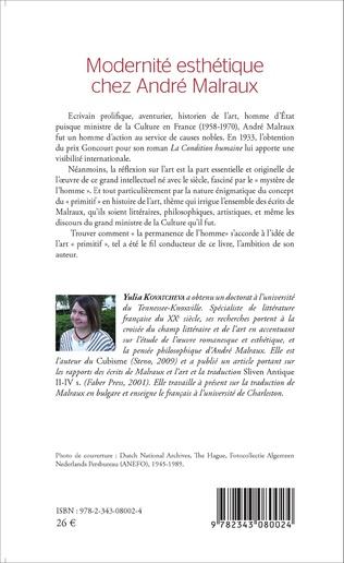 4eme Modernité esthétique chez André Malraux