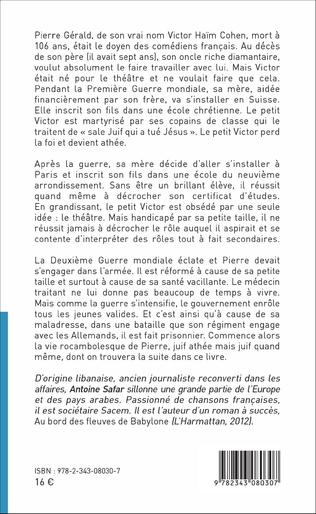 4eme Mémoires de Pierre Gérald, né Victor Haïm Cohen, doyen des acteurs français