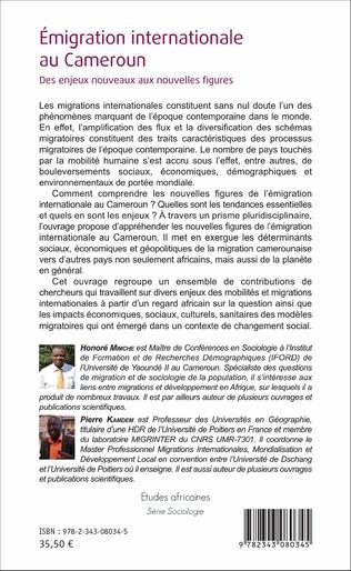 4eme Emigration internationale au Cameroun