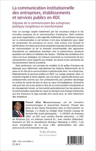4eme La communication institutionnelle des entreprises, établissements et services publics en RDC