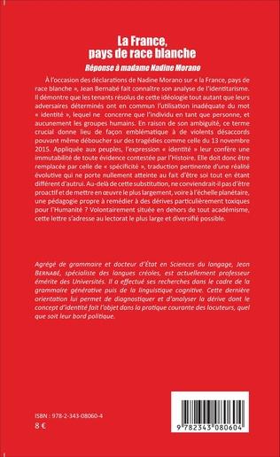 4eme La France, pays de race blanche