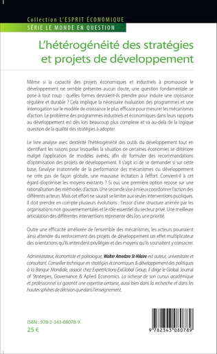 4eme L'hétérogénéité des stratégies et projets de développement