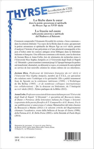 4eme La flèche dans le coeur dans la poésie amoureuse et spirituelle du Moyen Âge au XVIIe siècle