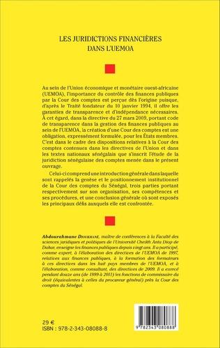 4eme Les juridictions financières dans l'UEMOA