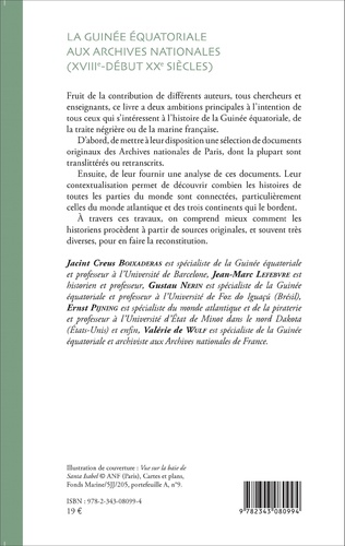 4eme La Guinée équatoriale aux archives nationales (XVIIIe-début XXe siècles)