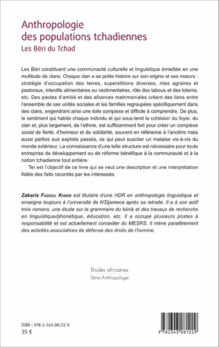 4eme Anthropologie des populations tchadiennes