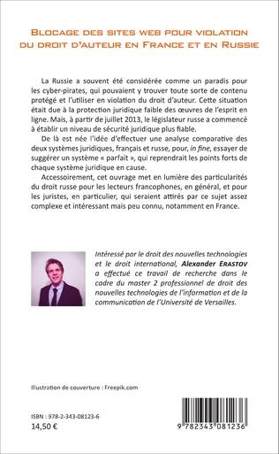 4eme Blocage des sites web pour violation du droit d'auteur en France et en Russie
