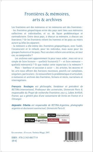 4eme Frontières & mémoires, arts & archives