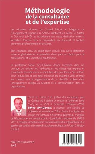 4eme Méthodologie de la consultance et de l'expertise