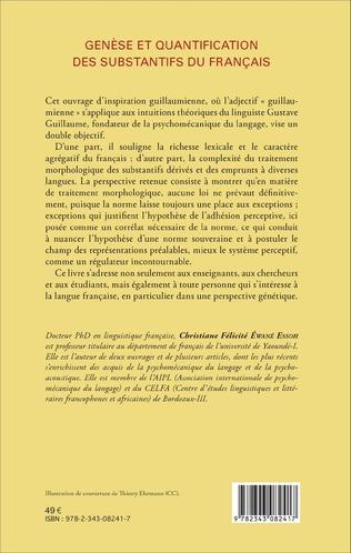 4eme Genèse et quantification des substantifs du français
