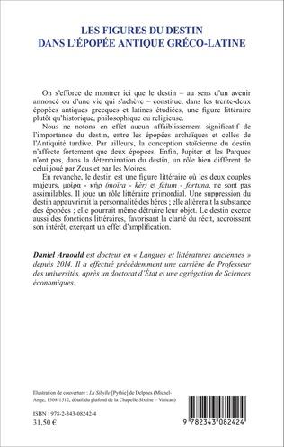 4eme Les Figures du destin dans l'épopée antique gréco-latine