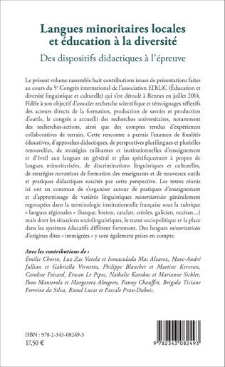 4eme Langues minoritaires locales et éducation à la diversité