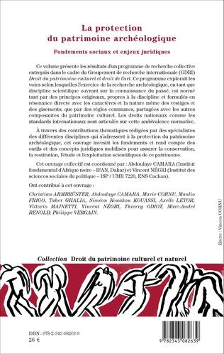 4eme La protection du patrimoine archéologique