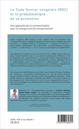 4eme Le Code foncier congolais (RDC) et la problématique de sa promotion