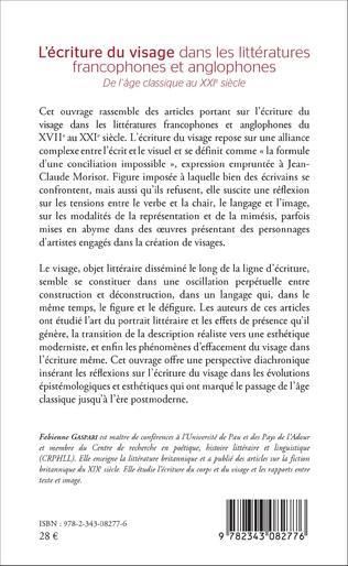 4eme L'écriture du visage dans les littératures francophones et anglophones