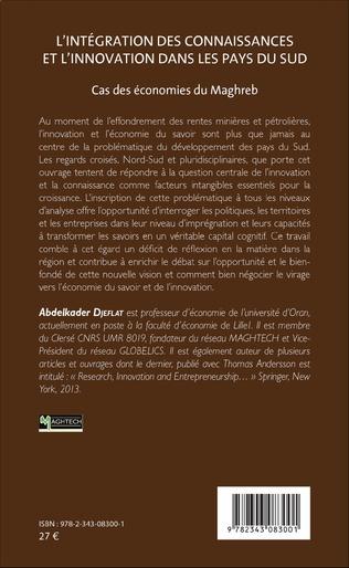 4eme L'Intégration des connaissances et l'innovation dans les pays du sud