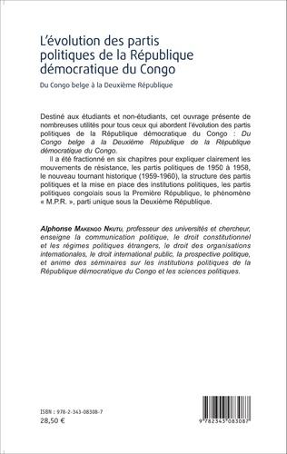 4eme L'évolution des partis politiques de la république démocratique du Congo