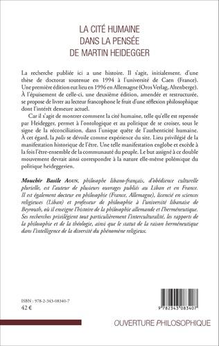 4eme La Cité humaine dans la pensée de Martin Heidegger