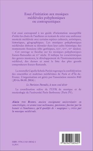 4eme Essai d'initiation aux musiques médiévales polyphoniques ou contrapuntiques
