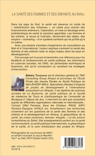 4eme La santé des femmes et des enfants au Mali