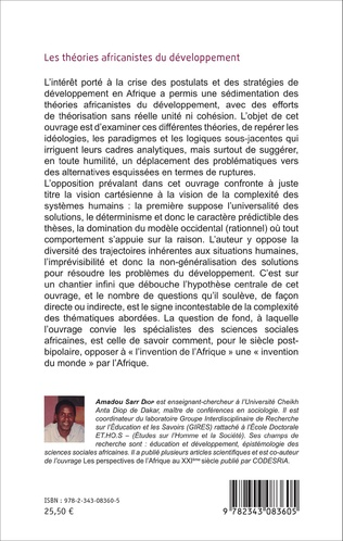 4eme Les théories africanistes du développement