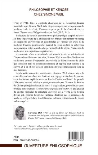 4eme Philosophie et kénose chez Simone Weil