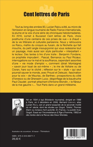 4eme Cent lettres de Paris