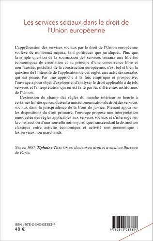4eme Les services sociaux dans le droit de l'Union européenne