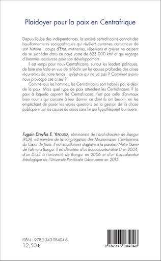 4eme Plaidoyer pour la paix en Centrafrique