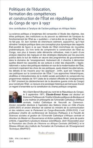 4eme Politiques de l'éducation, formation des compétences et construction de l'État en république du Congo de 1911 à 1997