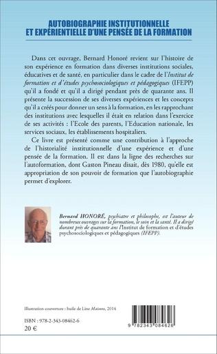 4eme Autobiographie institutionnelle et expérientielle d'une pensée de la formation