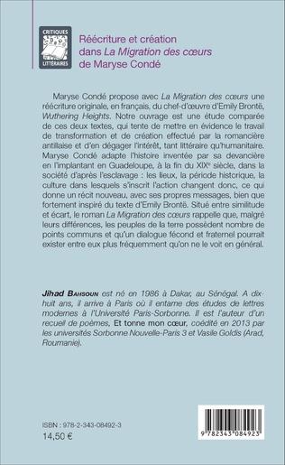 4eme Réécriture et création dans <em>La Migration des coeurs</em> de Maryse Condé