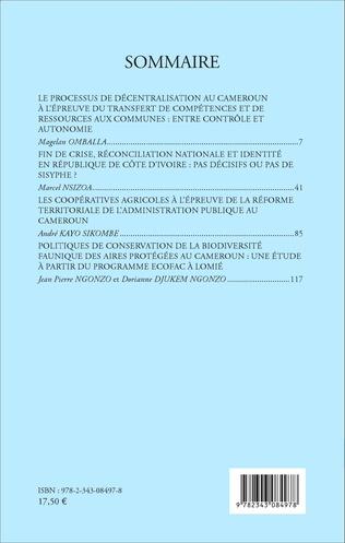 4eme Revue africaine d'études politiques & stratégiques Numéro spécial 2015