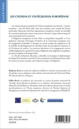 4eme Les citoyens et l'intégration européenne