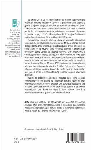 4eme La Légalité de l'intervention militaire française au Mali