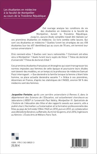 4eme Les étudiantes en médecine à la faculté de Montpellier au cours de la Troisième République