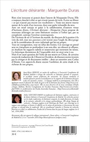 4eme L'écriture désirante : Marguerite Duras