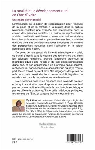 4eme La ruralité et le développement rural en Côte d'Ivoire
