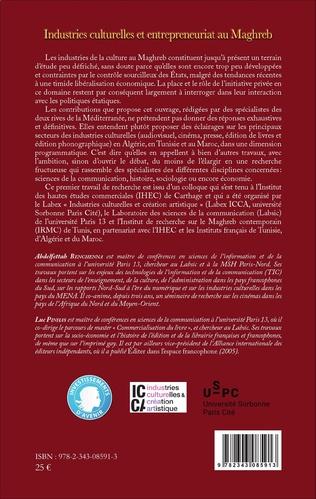 4eme Industries culturelles et entrepreneuriat au Maghreb