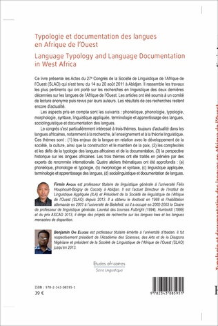 4eme Typologie et documentation  des langues en Afrique de l'Ouest