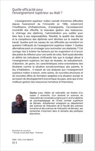 4eme Quelle efficacité pour l'enseignement supérieur au Mali ?