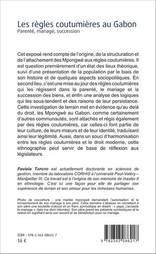 4eme Les règles coutumières au Gabon