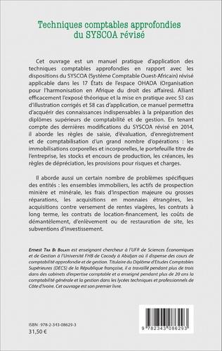 4eme Techniques comptables approfondies du SYSCOA révisé