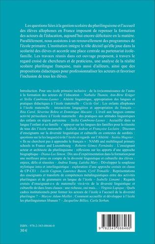 4eme Quels cadres institutionnels pour former les acteurs de l'école à l'accueil de la diversité plurilingue ?