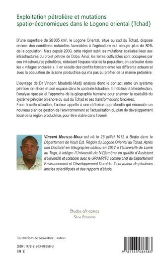 4eme Exploitation pétrolière et mutations spatio-économiques dans le Logone oriental (Tchad)
