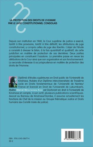 4eme La protection des droits de l'homme par le juge constitutionnel congolais