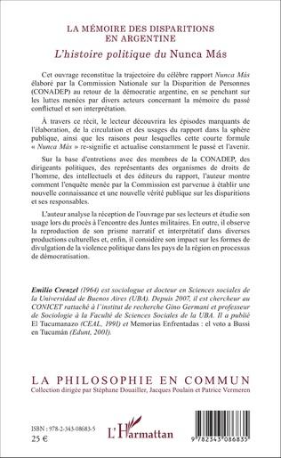 4eme La mémoire des disparitions en Argentine